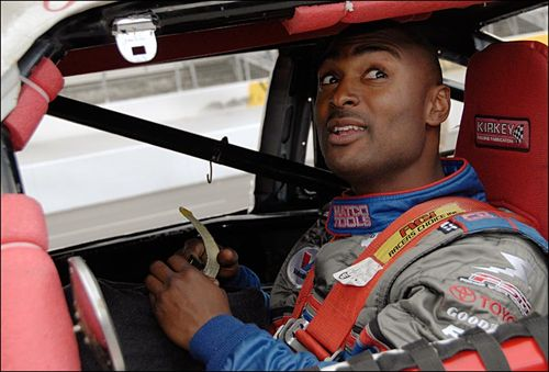 Antron Brown in Stock Car