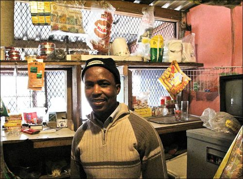 Mtsetse in his Shop