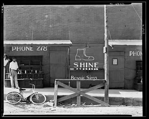 Walker Evans Shoeshine Sign