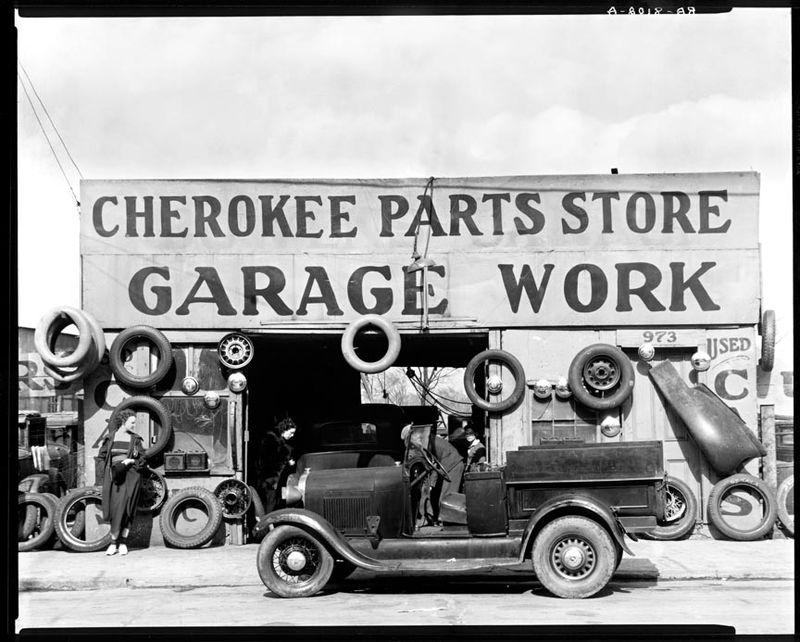 Walker Evans Cherokee Garage