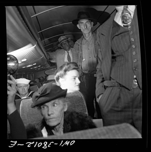 Bubley Greyhound Passengers on Bus