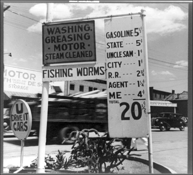 Lange Gas Station Santa Fe New Mex