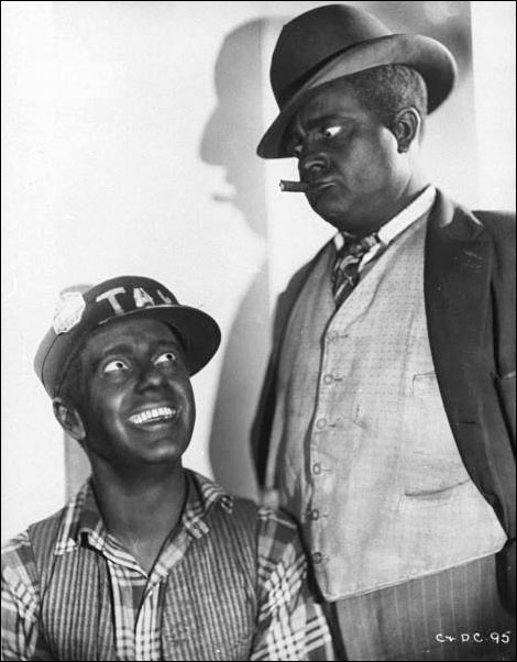 Life 1935 Actors Freeman Gosden & Charles Correll in blackface as radio characters Amos 'n Andy.