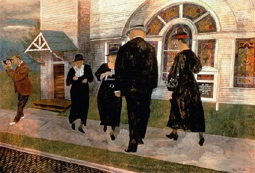 Ben Shahn self portrait church goers