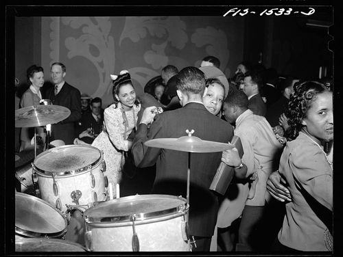 Jack Delano Dancing to the music of Red Sounders and his band at the Club DeLisa Chicago Illinois