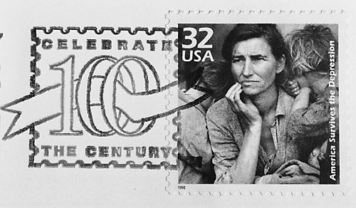 Migrant Mother US Postage Stamp