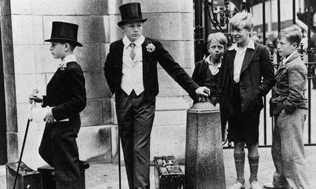 The five boys who came to illustrate the class divide Photograph Jimmy Sime Getty Images