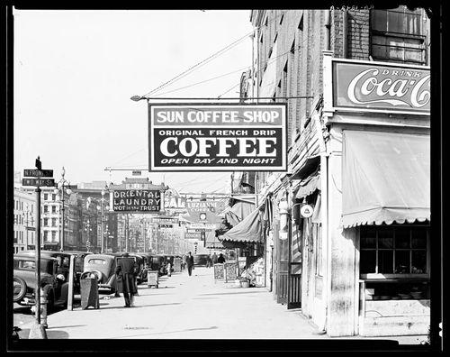 Walker Evans New Orleans downtown street 1935