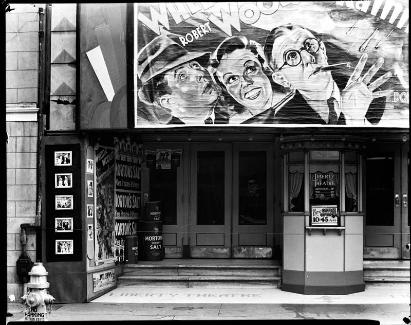 Walker Evans Movie theatre on Saint Charles Street Liberty Theater New Orleans 1935 36