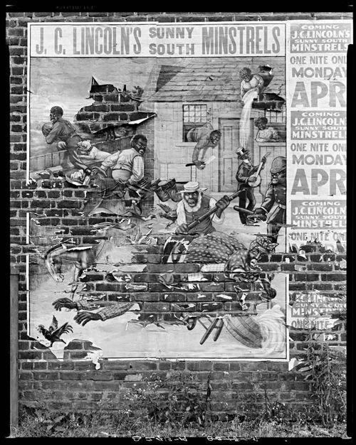 Walker Evans Minstrel poster. Alabama