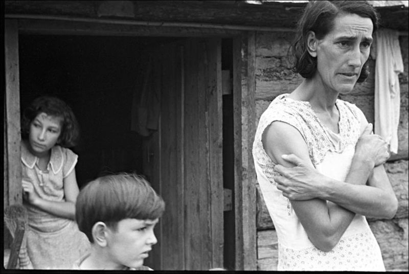 South Family 03 Shahn Migrant Mother Boone County, Arkansas