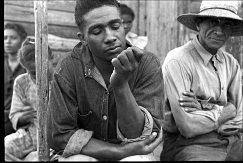 South Ben Shahn 1935 Unemployed trappers, Louisiana.