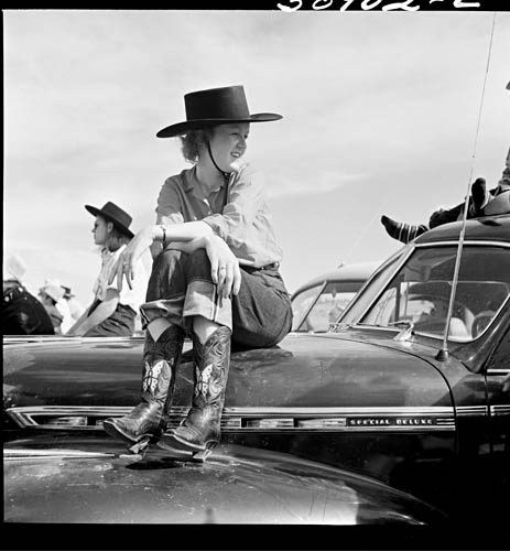 Marion Post Wolcott 1941 Dude at rodeo. Ashland, Montana..