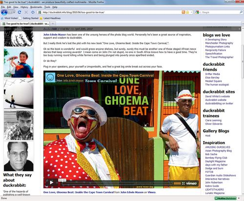 Duckrabbit Blog One Love Ghoema Beat Cape Town Carnival