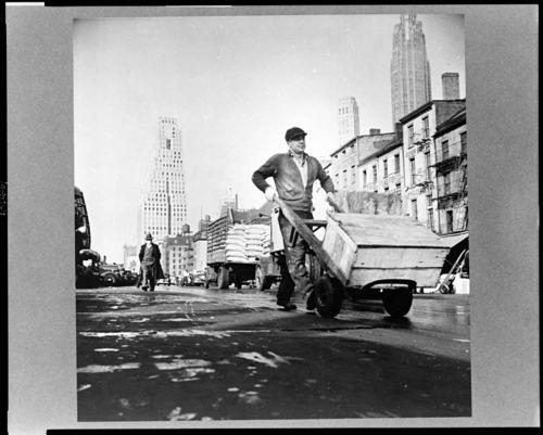 Gordon Parks New York New York Fulton fish market street sce