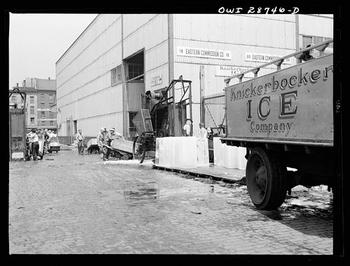 Gordon Parks New York New York Ice which is used to store fi