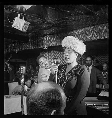 William Gottlieb Ella Fitzgerald Dizzy Gillespie Ray Brown Milt Jackson Timmie Rosenkrantz Downbeat New York NY ca Sept 1947