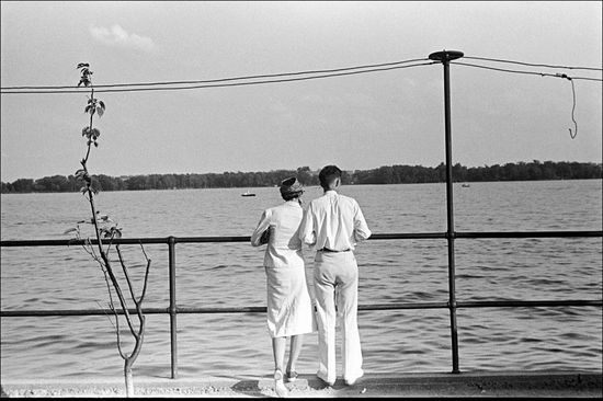 Ben Shahn Looking over Buckeye Lake near Columbus Ohio 1938