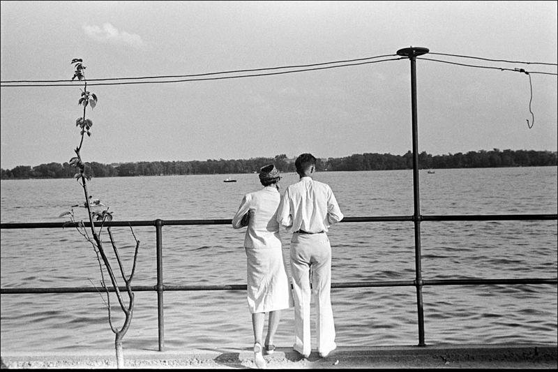 Ben Shahn Looking over Buckeye Lake near Columbus Ohio 1938