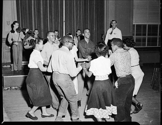 Scurlock Studio Square dance Howard University April 1949.