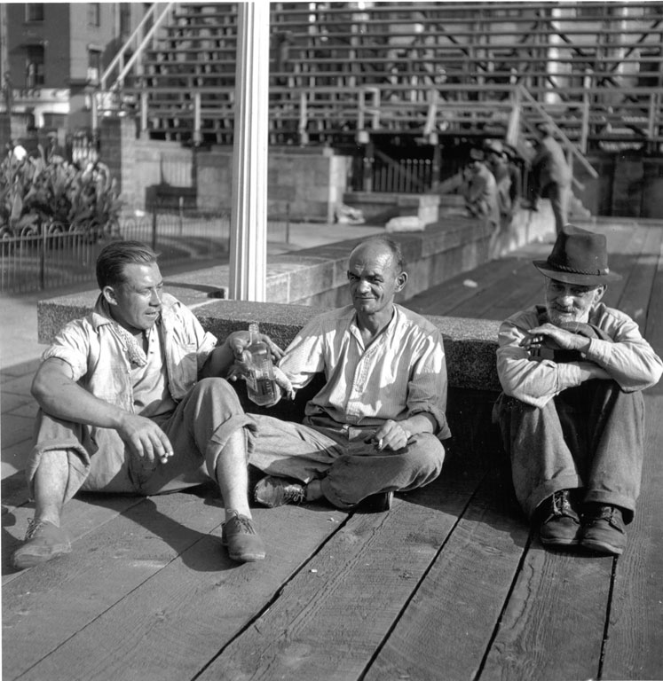 Constance Stuart Larrabee Three Homeless Men 1947 1948