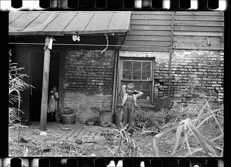 Carl Mydans Backyard of colored home near Capitol Washington DC 1935