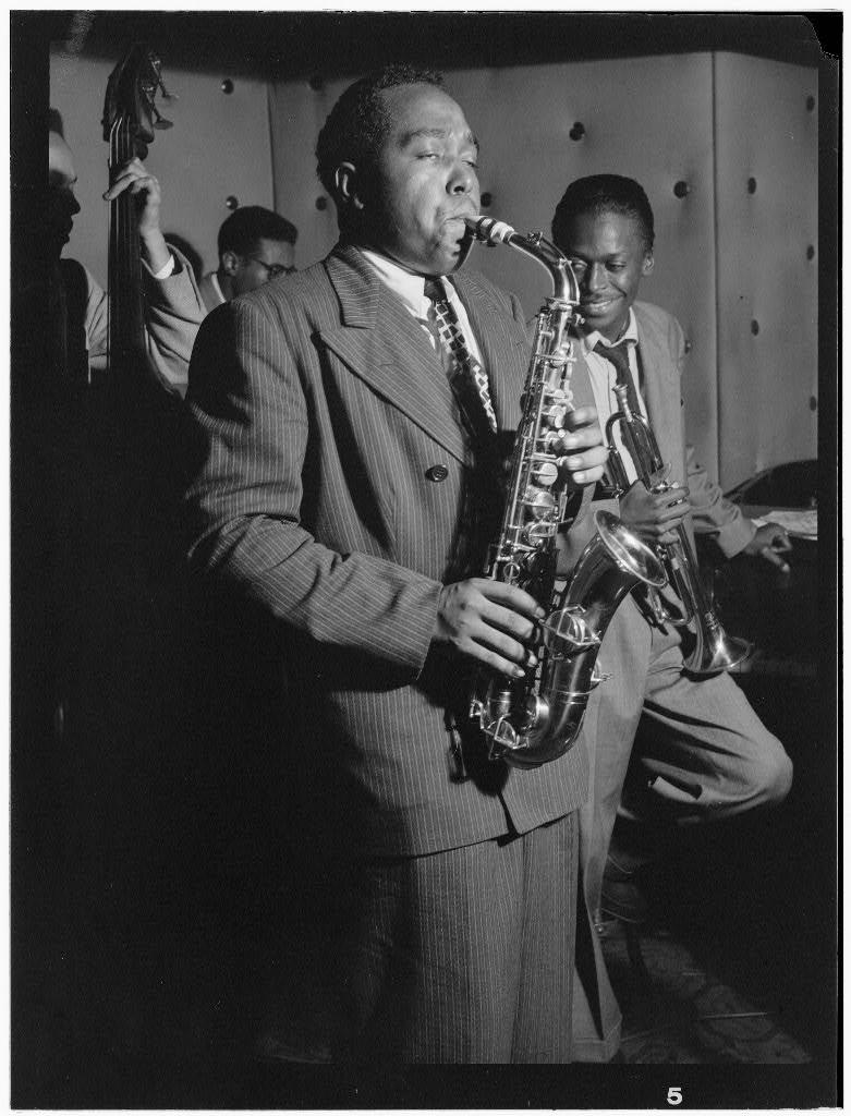 William Gottlieb Charlie Parker Tommy Potter Miles Davis Max Roach Three Deuces New York NY ca Aug 1947