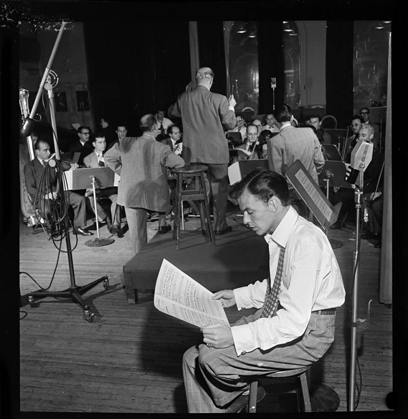 William Gottlieb Frank Sinatra Axel Stordahl Liederkrantz Hall New York NY ca 1947