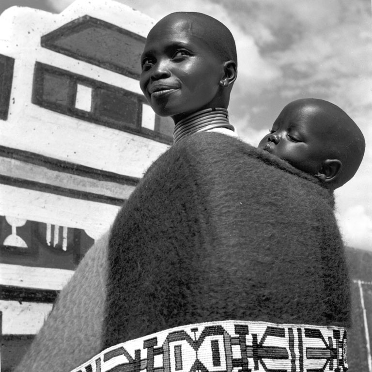 Ndebele mother and child (south africa), 1936-1949 (probably 1960). by
