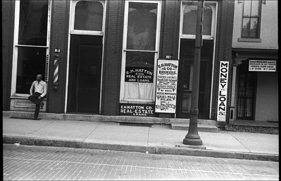 Ben Shahn Real estate and loan office Marysville Ohio 1938