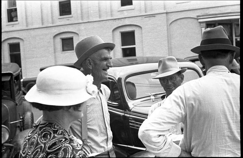 Ben Shahn Street scene Marysville Ohio 1938