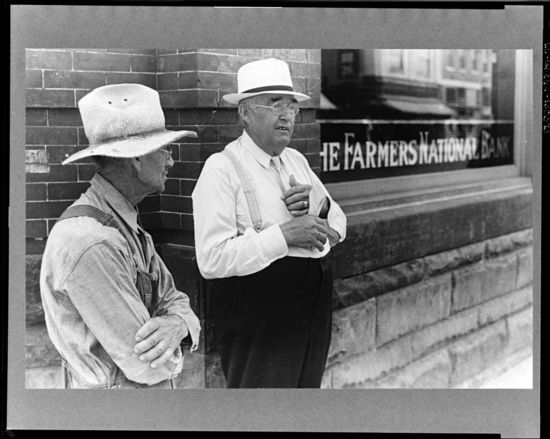 Ben Shahn Farmer and banker Plain City Ohio 1938