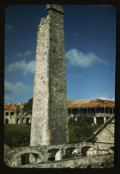 Delano Ruins of an old sugar mill and plantation house vicinity of Christiansted Saint Croix Virgin Islands 1941