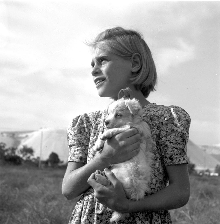 Constance Stuart Larrabee Girl With Puppy 1947 48
