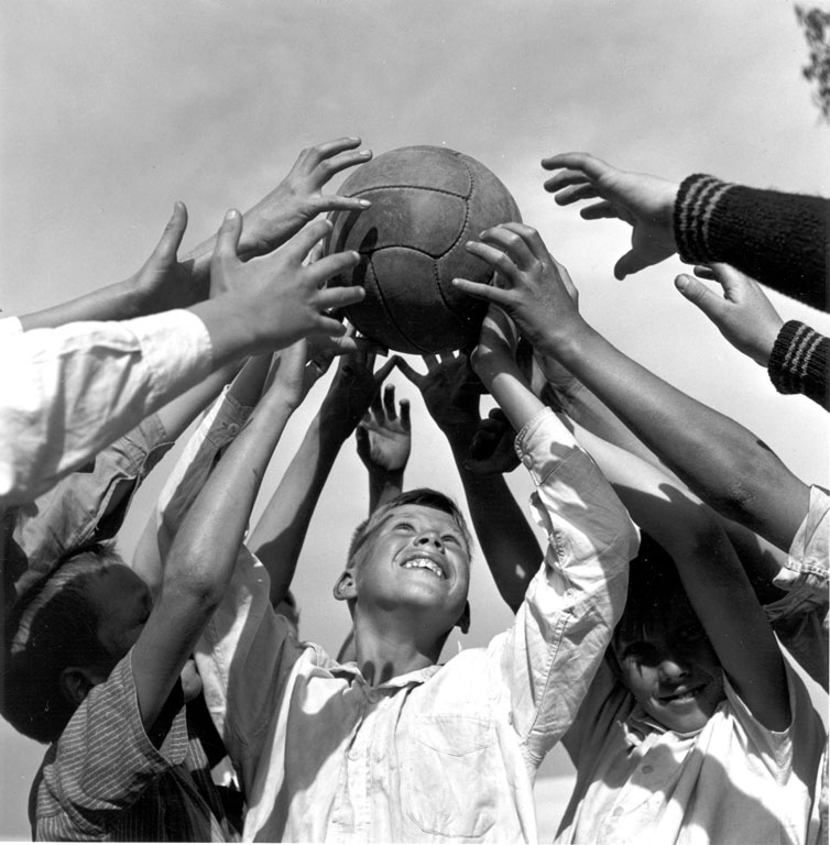 Constance Stuart Larrabee Boys With Ball at Booysens Play Center 1947 48 eepa_1998_062034