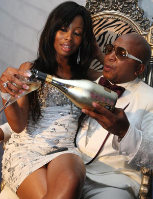 Khanyi Mbau and Kenny Kunene share a special birthday moment Picture Lucky Nxumalo