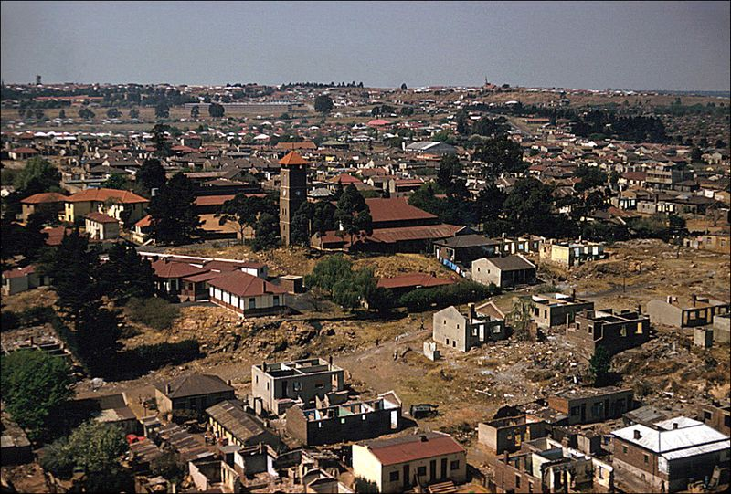 Eliot Elisofon Aerial view of Anglican Church of Christ the King Sophiatown Johannesburg South Africa 1959 02