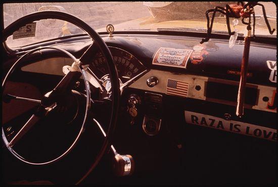 Danny Lyon Automobile in the El Paso's Second Ward Neighborhood 06 1972