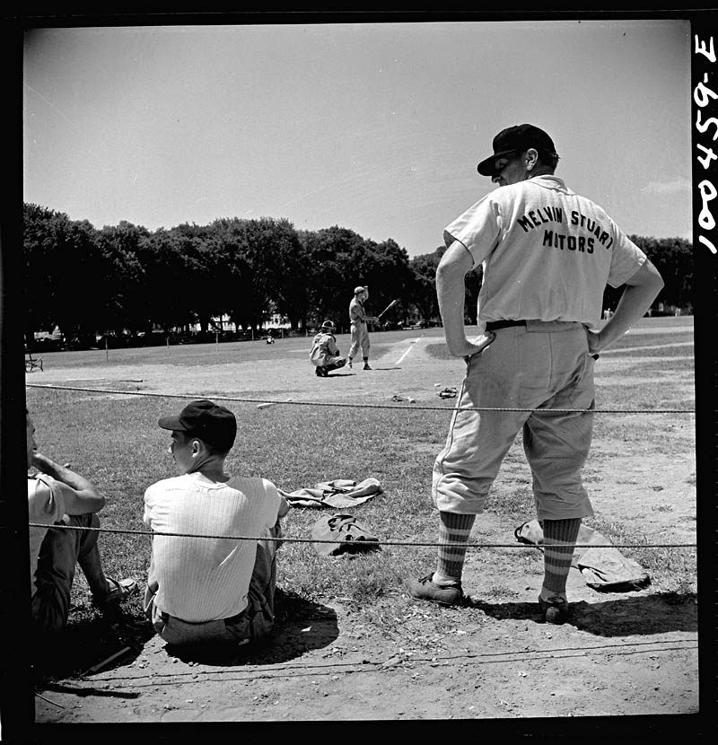 Marjorie Collins Washington DC Players in an amateur baseball game between the employees recreation association and a team recruited from garage workers 1942