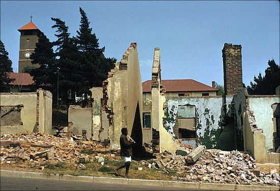 Eliot Elisofon Sophiatown as it was left after removal of the population under the Western Areas Removal Scheme Johannesburg South Africa 1959