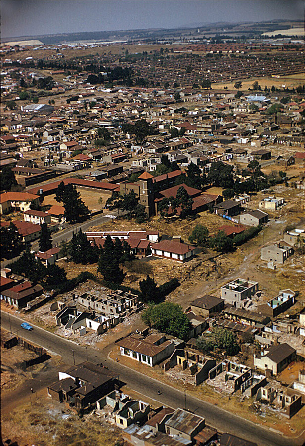 Eliot Elisofon Aerial view of Anglican Church of Christ the King Sophiatown Johannesburg South Africa 1959
