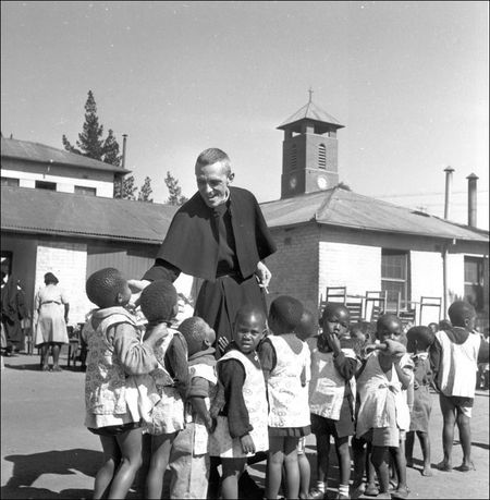 Constance Stuart Larrabee Father Huddleston with Children 1948