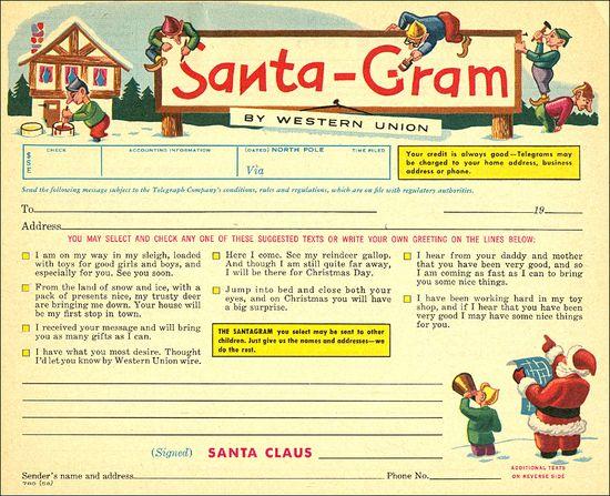 Santa Gram Western Union