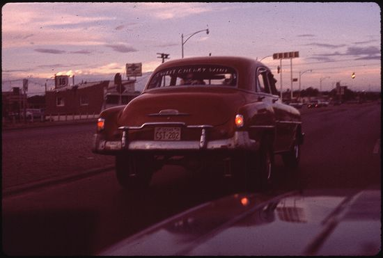 Danny Lyon Thunderbird Club in Background  07 1972