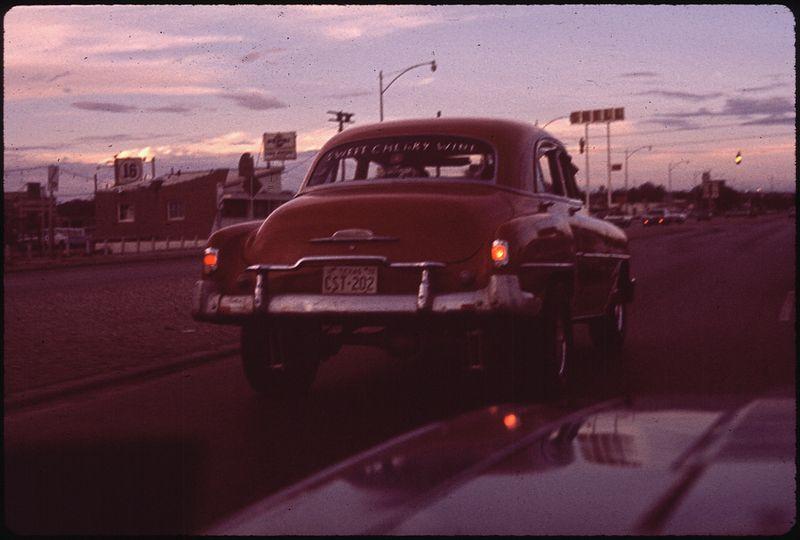 Danny Lyon Thunderbird Club in Background  07 1972