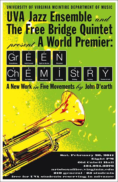 "West Virginia University Address >> World Premiere: ""Green Chemistry,"" by John D'earth, with ..."
