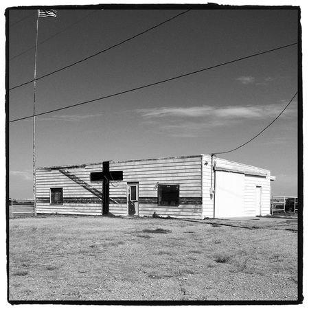 Route 66 Oklahoma Church BW Blog
