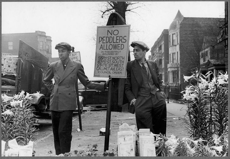 Russell Lee Peddlers on Easter morning on Garfield Boulevard Chicago Illinois 1941