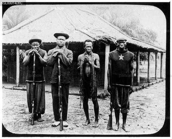 16c Anti Slavery International Congo three sentrie
