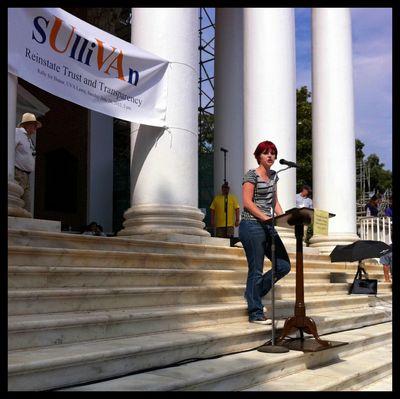 Mason UVA Sullivan Crisis Third Rally Suzie McCarthy